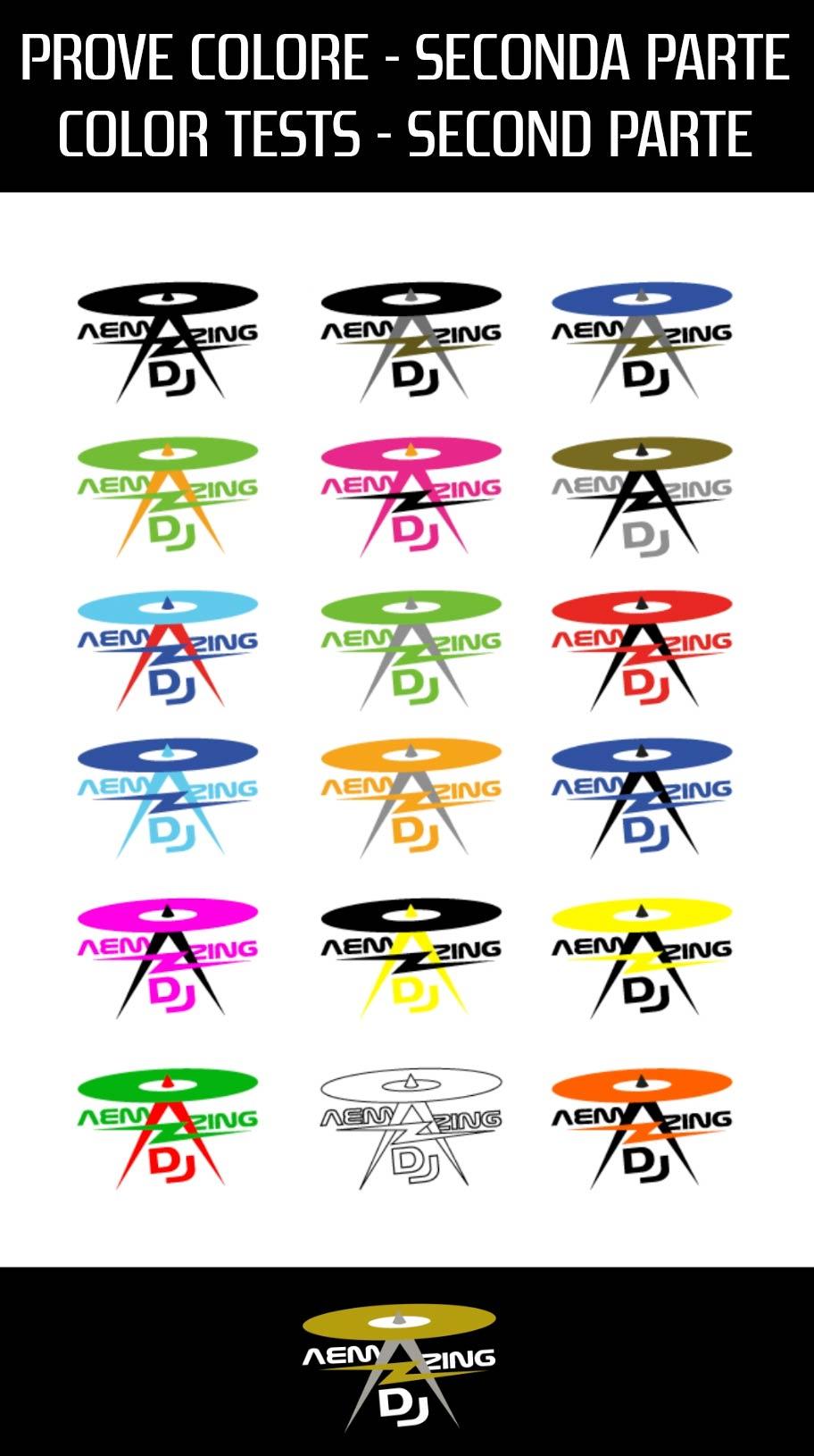 varie prove colore del logo AEMazing DJ